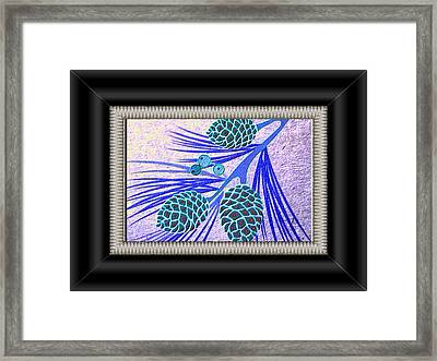 Pine Cones Framed Print by Valerie Bruno