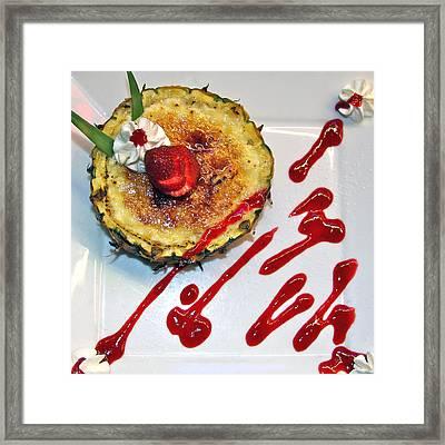Pineapple Creme Brulee Maui Style Framed Print by Karon Melillo DeVega