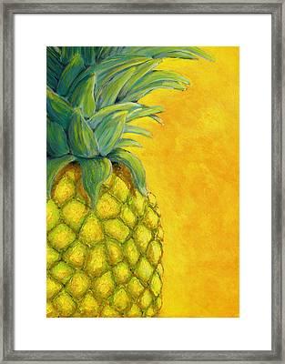 Pineapple Framed Print by Karyn Robinson