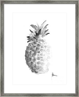 Pineapple Painting Watercolor Art Print Framed Print by Joanna Szmerdt