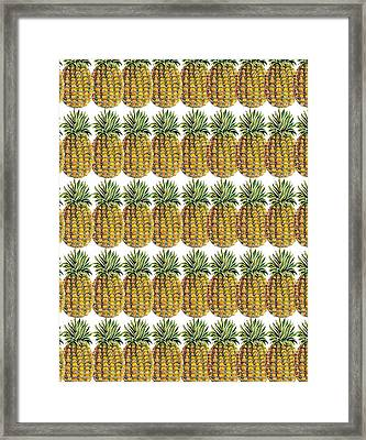 Pineapple Parade Framed Print by John Keaton