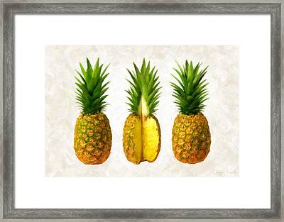 Pineapples Framed Print by Danny Smythe
