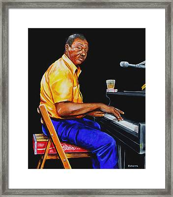 Pinetop Perkins Framed Print by Karl Wagner