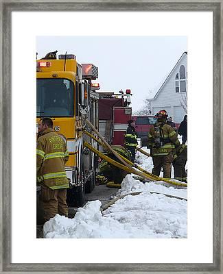Pingree Grove Fire Department Framed Print by David Bearden