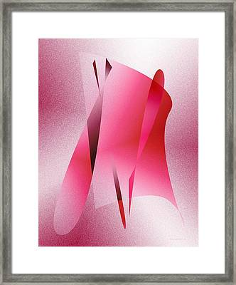 Pink Abstract Art Framed Print by Mario  Perez