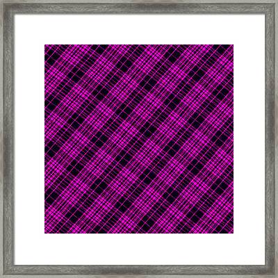 Pink And Black Plaid Cloth Background Framed Print by Keith Webber Jr