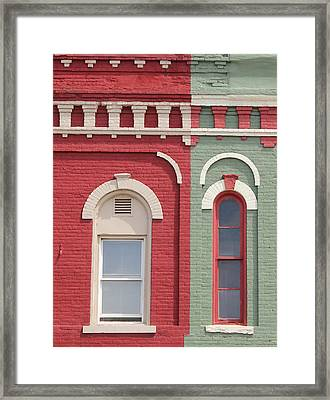 Pink And Green Framed Print by Mary Bedy