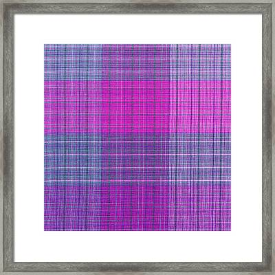 Pink And Purple Plaid Textile Background Framed Print by Keith Webber Jr