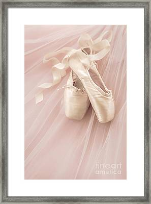 Pink Ballet Shoes Framed Print by Diane Diederich