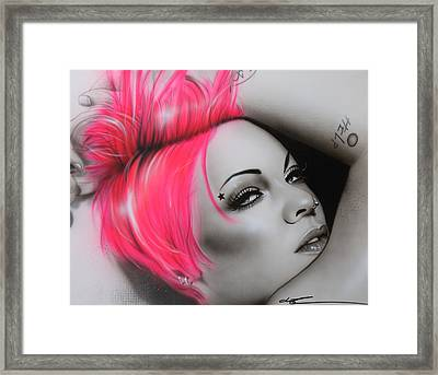 Alecia Moore - ' Pink ' Framed Print by Christian Chapman Art