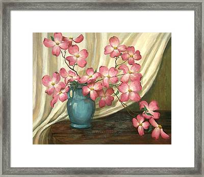 Pink Dogwoods Framed Print by Evie Cook
