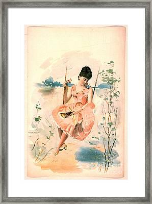 Pink Dress 1892 Framed Print by Padre Art