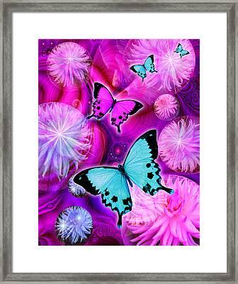 Pink Fantasy Flower Framed Print by Alixandra Mullins
