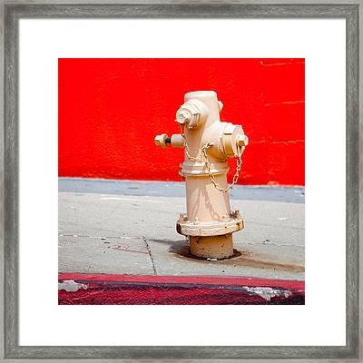 Pink Fire Hydrant Framed Print by Art Block Collections