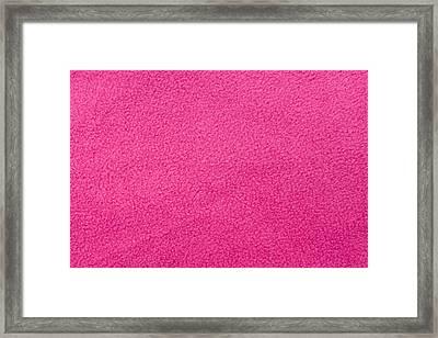 Pink Fleece Framed Print by Tom Gowanlock