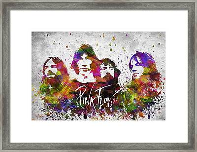 Pink Floyd In Color Framed Print by Aged Pixel