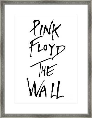 Pink Floyd No.01 Framed Print by Unknow