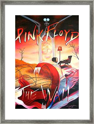 Pink Floyd The Wall Framed Print by Joshua Morton