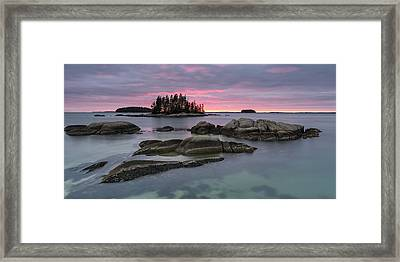 Pink Granite Glow Framed Print by Patrick Downey