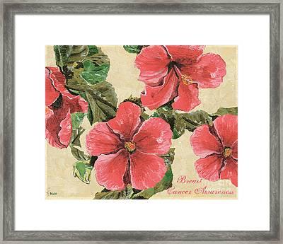 Pink Hibiscus Framed Print by Debbie DeWitt