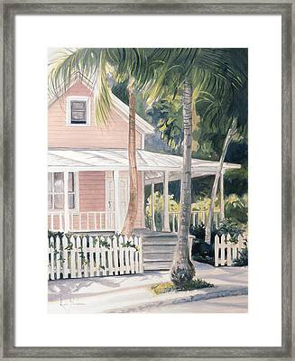 Pink House Framed Print by Lucie Bilodeau