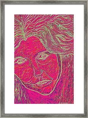 Pink Lady Framed Print by Mark Moore