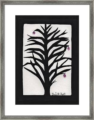 Pink Leaf Maple Framed Print by Barbara St Jean