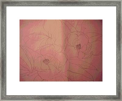 Pink Lust Framed Print by Erica  Darknell
