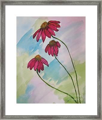 Pink Framed Print by Marcia Weller-Wenbert