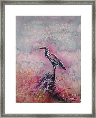 Pink Morning Framed Print by Zaira Dzhaubaeva