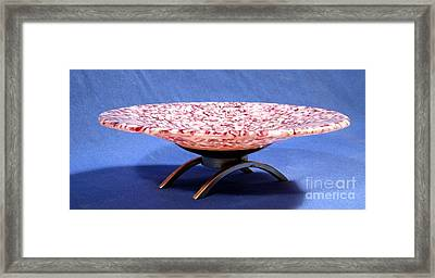 Pink Murrini Bowl With Stand Image B Framed Print by P Russell