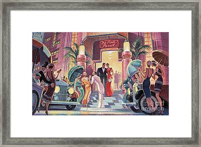 Pink Parrot Club Framed Print by Michael Young
