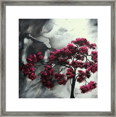 Pink Passion Original Painting Madart Framed Print by Megan Duncanson