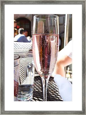 Pink Prosecco Framed Print by Allan Morrison