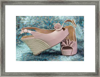 Pink Sandal Wedge Still Life Framed Print by Patti Deters