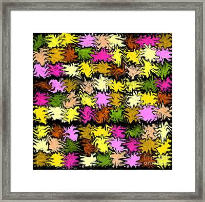 Pink Squiggle Quilt Abstract Framed Print by Karen Adams