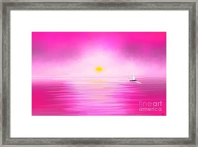 Pink Sunset Framed Print by Anita Lewis