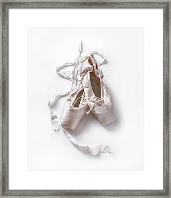 Pink Toe Shoes Framed Print by Diane Diederich