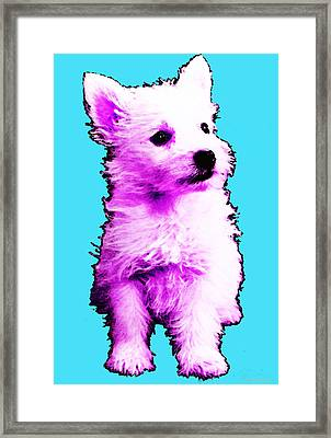 Pink Westie - West Highland Terrier Art By Sharon Cummings Framed Print by Sharon Cummings