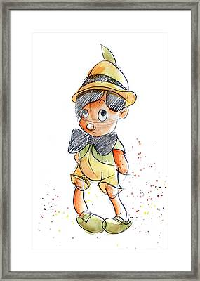 Pinocchio Framed Print by Andrew Fling