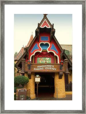 Pinocchio Daring Journey Fantasyland Disneyland Framed Print by Thomas Woolworth