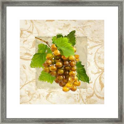 Pinot Gris II Framed Print by Lourry Legarde