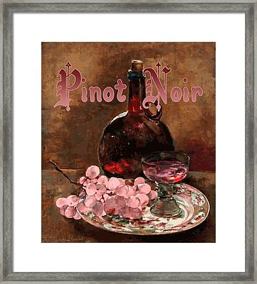 Pinot Noir Vintage Advertisement Framed Print by
