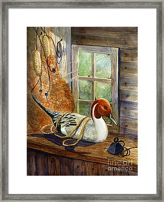 Pintail Duck Decoy Framed Print by Marilyn Smith