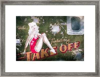 Pinup Girl - Aircraft Nose Art - Take Off Anne Framed Print by Gary Heller