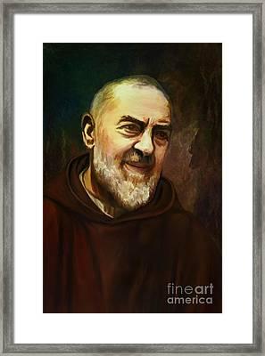 Pio Of Pietrelcina Framed Print by Andrzej Szczerski