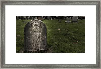 Pioneer Grave Framed Print by Jean Noren