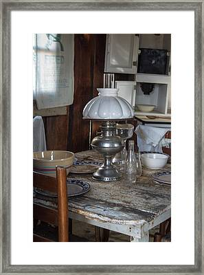 Pioneer Kitchen Table 1 Framed Print by Douglas Barnett