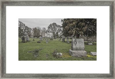Pioneer Resting Place Framed Print by Jean Noren