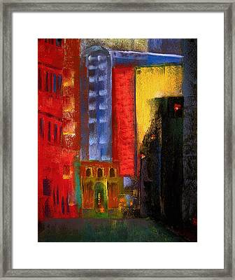 Pioneer Square Alleyway Framed Print by David Patterson